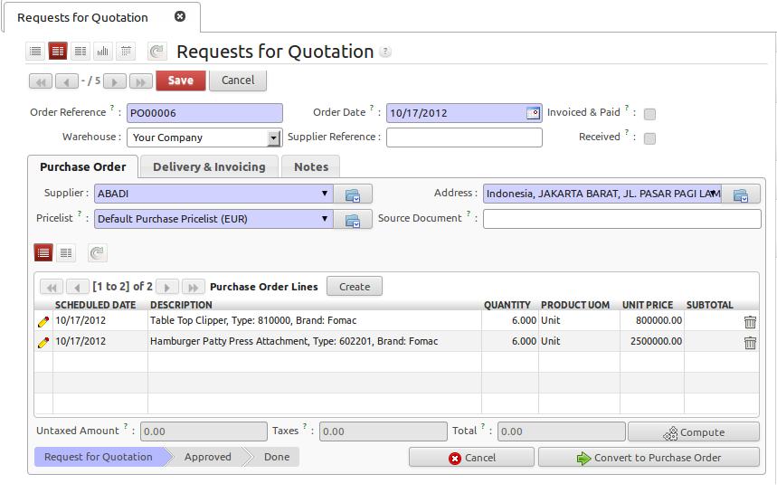Openerp 6 1 Functional Tutorial Purchase Order Dengan Partial Picking Andhitia Rama S Blog