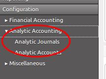 Konfigurasi Analytic Accounting