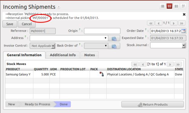 Notifikasi Otomatisasi Pembuatan Internal Moves INT/0001