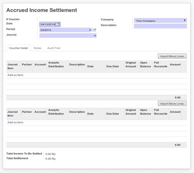 Accrued Income Settlement