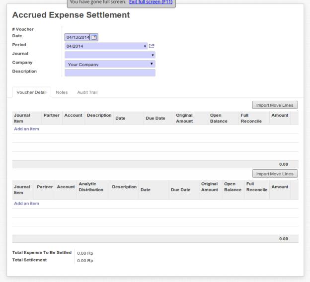 Accrued Expense Settlement