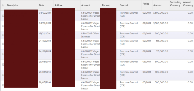 Query Expenses Detail