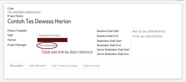 Tidak ada link ke data referensi